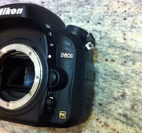 Nikon D600 FX Camera Side View