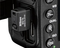 WiFi transmitter WU-1b in D600 USB port
