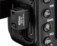 WiFi transmitter WU-1b in D600 USB port