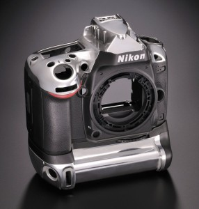 Nikon D600 body shell made of magnesium alloy and plastic