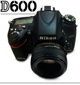 Nikon D600 Top Angle with Lens