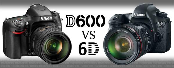 Nikon D600 vs Canon 6D
