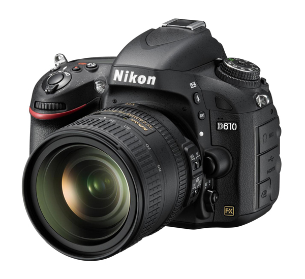 Nikon D610 photo 24-85mm VR front of camera