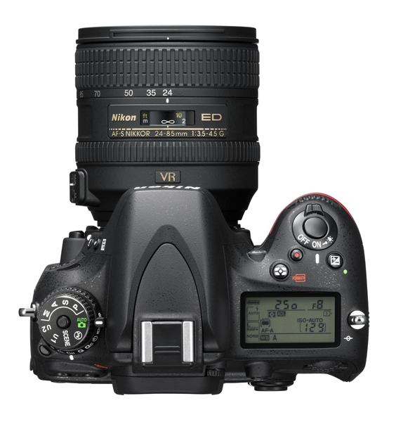 Nikon D610 picture with 24-85 VR to of camera