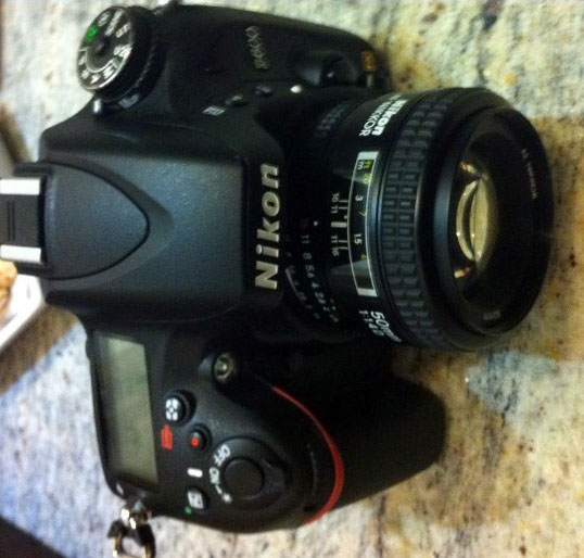 Nikon D600 FX DSLR - Top Showing flash, LCD display